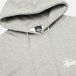 Мужская толстовка Stussy Basic Logo Graphic Print Grey Heather фото- 1