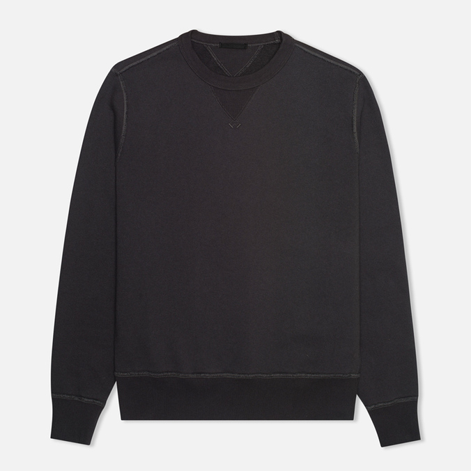 Мужская толстовка Ten C Heavy Jersey Crew Neck Black