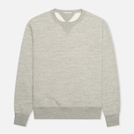 Мужская толстовка Ten C Heavy Jersey Crew Neck Grey Melange фото- 0
