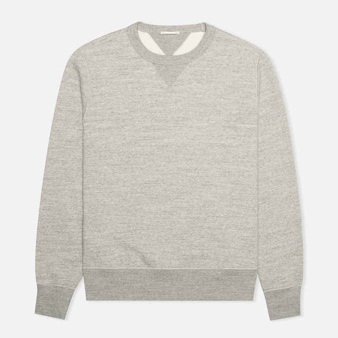 Мужская толстовка Ten C Heavy Jersey Crew Neck Grey Melange