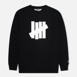 Мужская толстовка Undefeated 5 Strike Crew Neck Black фото- 0