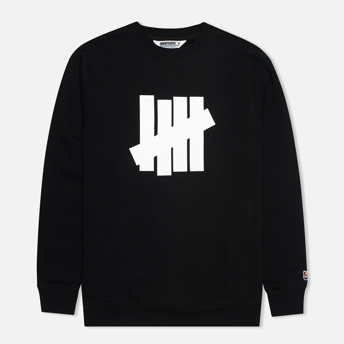 Мужская толстовка Undefeated 5 Strike Crew Neck Black