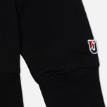 Мужская толстовка Undefeated 5 Strike Crew Neck Black фото- 3