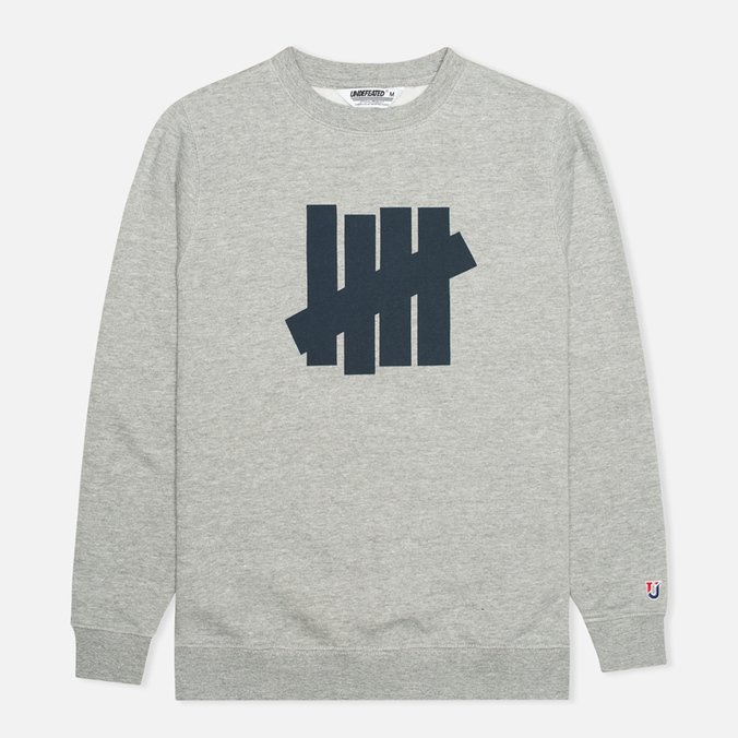 Мужская толстовка Undefeated 5 Strike Crew Neck Grey Heather