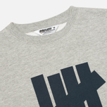 Мужская толстовка Undefeated 5 Strike Crew Neck Grey Heather фото- 1