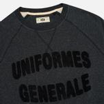 Мужская толстовка Uniformes Generale Chenille Black Melange фото- 1