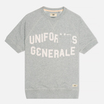 Мужская толстовка Uniformes Generale College Reglan Crew Neck Tea Grey Melange фото- 0
