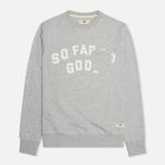 Uniformes Generale SFSG Pocket Crew Neck Men`s Sweatshirt Tea Grey Melange/White photo- 0