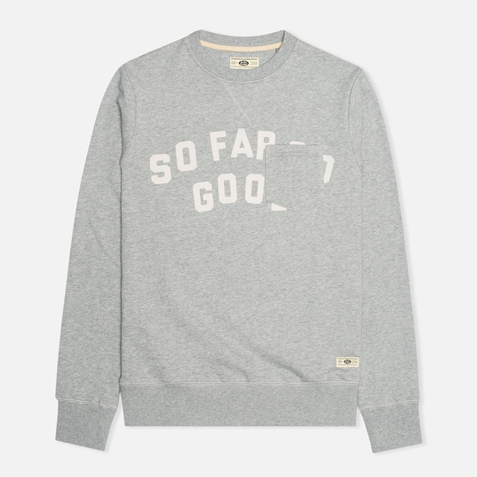Uniformes Generale SFSG Pocket Crew Neck Men`s Sweatshirt Tea Grey Melange/White