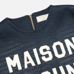 Maison Kitsune 3D Сropped Women's Sweatshirt Navy photo- 1