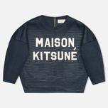 Maison Kitsune 3D Сropped Women's Sweatshirt Navy photo- 0