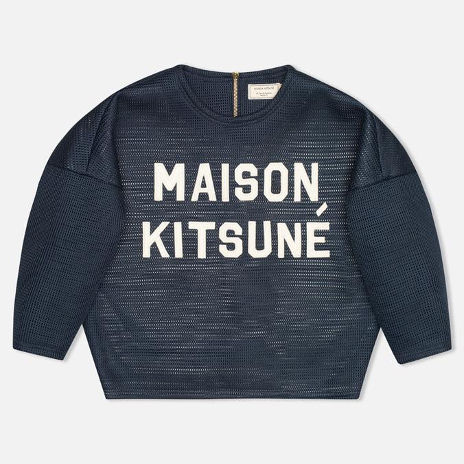 Maison Kitsune 3D Сropped Women's Sweatshirt Navy