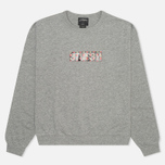 Stussy Lips Crew Neck Women's Sweatshirt Grey Heather photo- 0