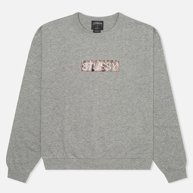 Stussy Lips Crew Neck Women's Sweatshirt Grey Heather