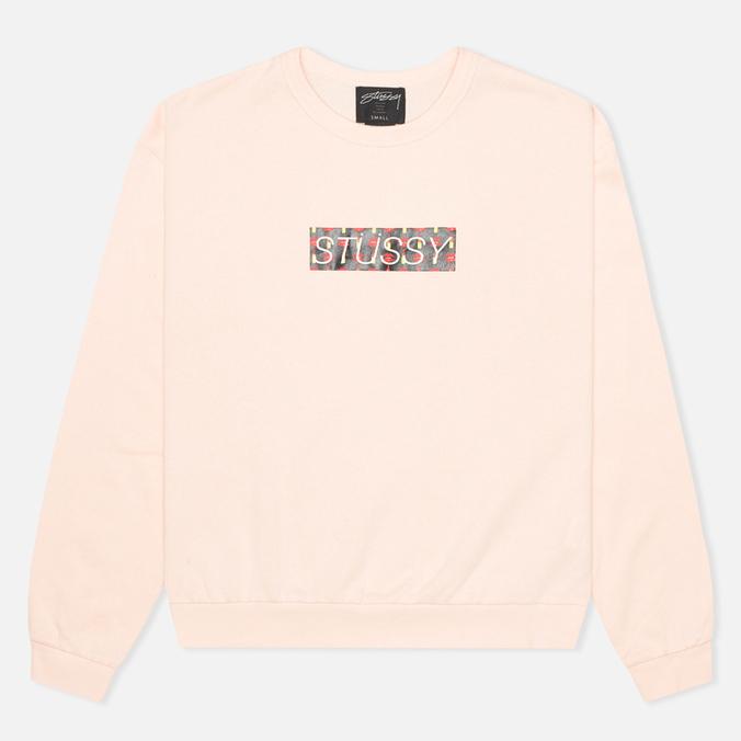 Stussy Lips Crew Neck Women's Sweatshirt Pink