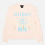 Stussy Palm Band Crew Neck Women's Sweatshirt Pink photo- 0