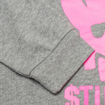 Stussy Stay Paid Cropped Crew Neck Women's Sweatshirt Grey photo- 3