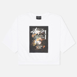 Stussy WT Floral Women's Sweatshirt White photo- 0