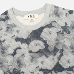 Женская толстовка YMC Pixelated Floral Crew Neck Grey/Navy фото- 1