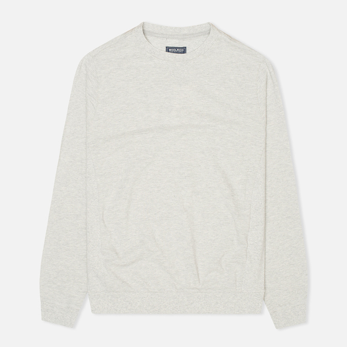 Мужская толстовка Woolrich Flanders Crew Neck Light Grey