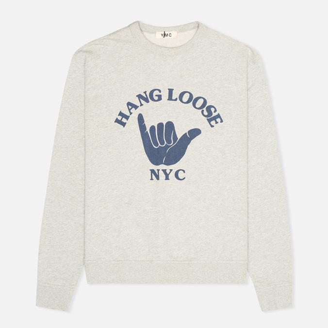 Мужская толстовка YMC Hang Loose NYC Grey