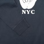 Мужская толстовка YMC Hang Loose NYC Navy фото- 3