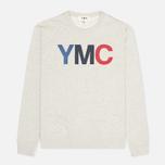 YMC Logo Print Crew Neck Sweatshirt Grey photo- 0