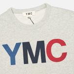 YMC Logo Print Crew Neck Sweatshirt Grey photo- 1
