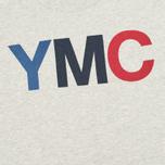 YMC Logo Print Crew Neck Sweatshirt Grey photo- 2