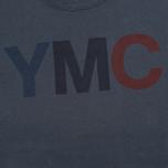 Мужская толстовка YMC Logo Print Crew Neck Navy фото- 2