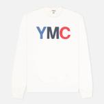 Мужская толстовка YMC Logo Print Crew Neck White фото- 0