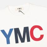 Мужская толстовка YMC Logo Print Crew Neck White фото- 1