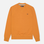 Мужская толстовка Fred Perry Loopback Crew Neck Dark Honey Mustard фото- 0