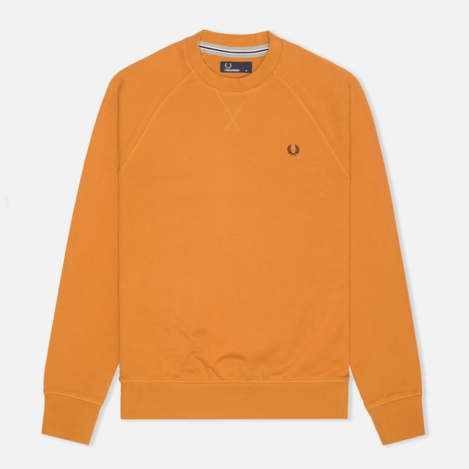 Мужская толстовка Fred Perry Loopback Crew Neck Dark Honey Mustard