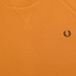 Мужская толстовка Fred Perry Loopback Crew Neck Dark Honey Mustard фото- 2