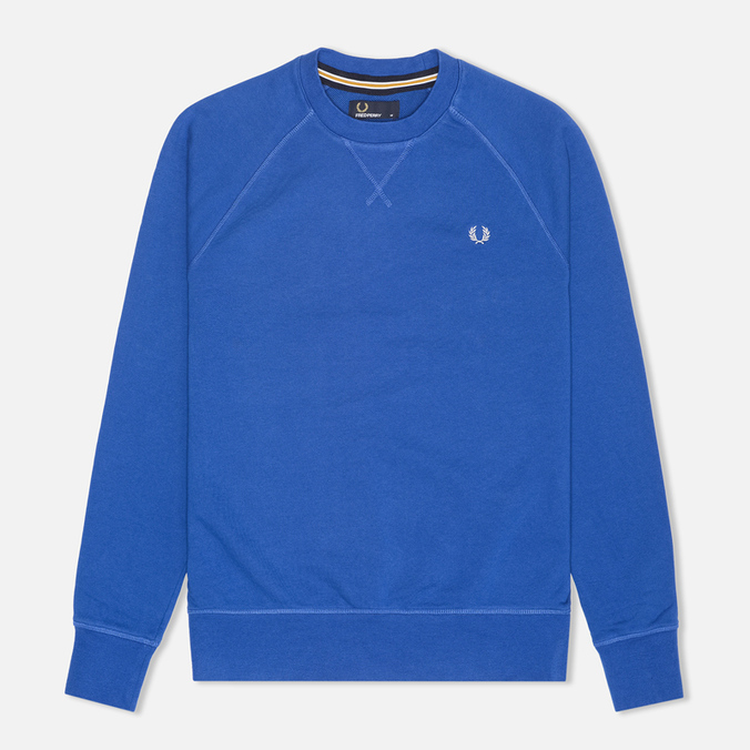 Fred Perry Loopback Crew Neck Men`s Sweatshirt Royal