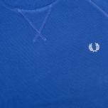 Fred Perry Loopback Crew Neck Men`s Sweatshirt Royal photo- 2