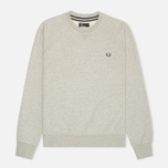 Fred Perry Loopback Crew Neck Men`s Sweatshirt Stone Marl photo- 0