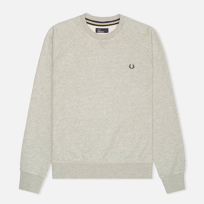 Fred Perry Loopback Crew Neck Men`s Sweatshirt Stone Marl