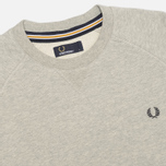 Fred Perry Loopback Crew Neck Men`s Sweatshirt Stone Marl photo- 1