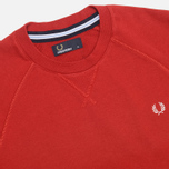 Fred Perry Loopback Crew Neck Men`s Sweatshirt Wallace Red photo- 1