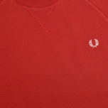 Fred Perry Loopback Crew Neck Men`s Sweatshirt Wallace Red photo- 2