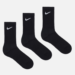 Комплект носков Nike 3-Pack Everyday Cushioned Crew Black/White