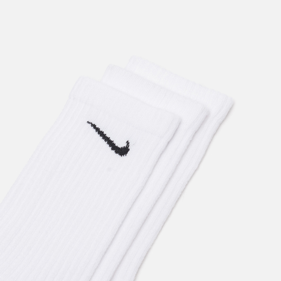 Комплект носков Nike 3-Pack Everyday Cushioned Crew White/Black