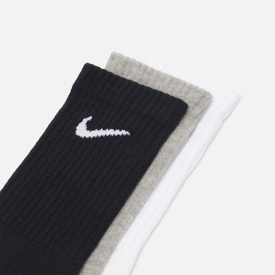 Комплект носков Nike 3-Pack Everyday Cushioned Crew Black/Grey/White