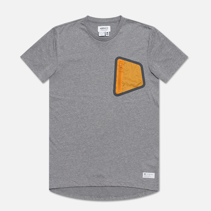 Мужская футболка adidas Originals Pocket CL Grey/Orange