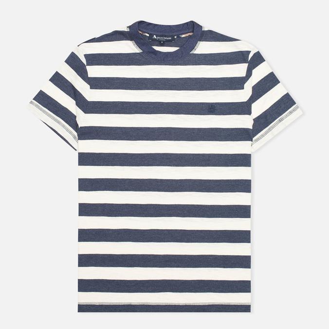 Aquascutum Buster Striped T-shirt Blue