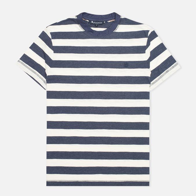 Мужская футболка Aquascutum Buster Striped Blue