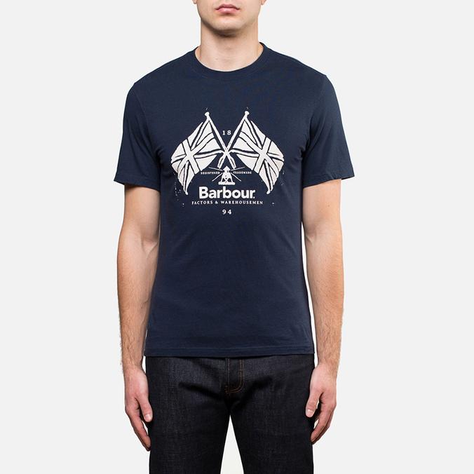 Мужская футболка Barbour Cross Flags Navy