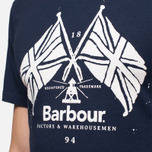Мужская футболка Barbour Cross Flags Navy фото- 5